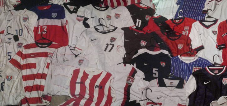 Nearly Complete USA Jersey Collection On Exhibit